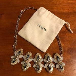 J Crew black white gold statement necklace & bag